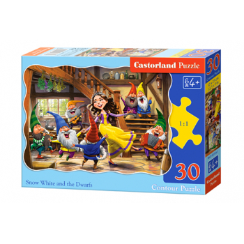 PUZZLE 30 DELOVA B-03754-1 SNOW WHITE AND THE SEVEN DWARFS CASTORLAND