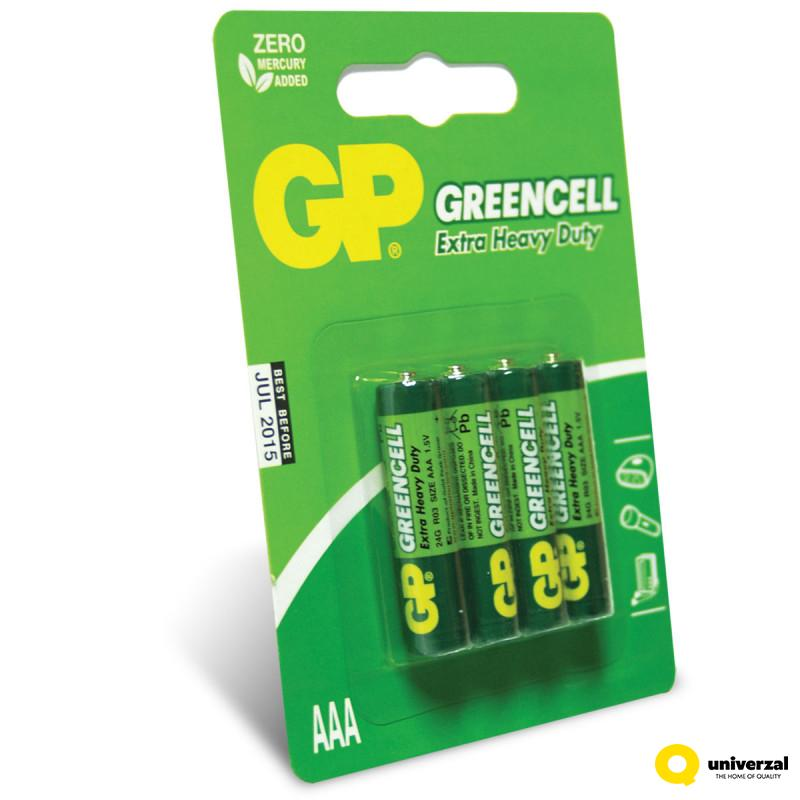 BATERIJE GP GREENCELL 4/1 R03 24G-U4