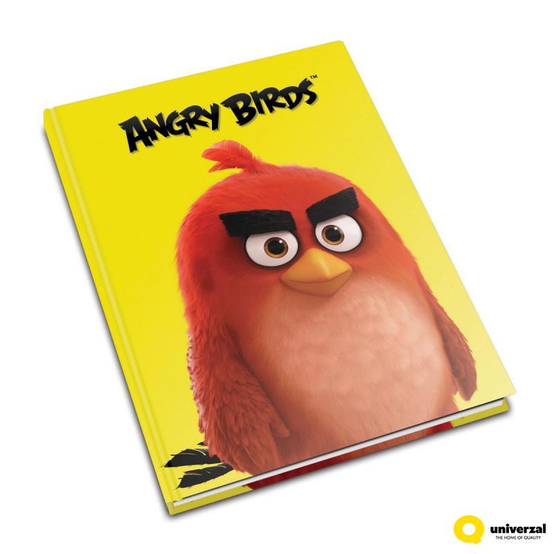 SVESKA A5 TVRDI POVEZ LATAJN 80L ANGRY BIRDS 70gr