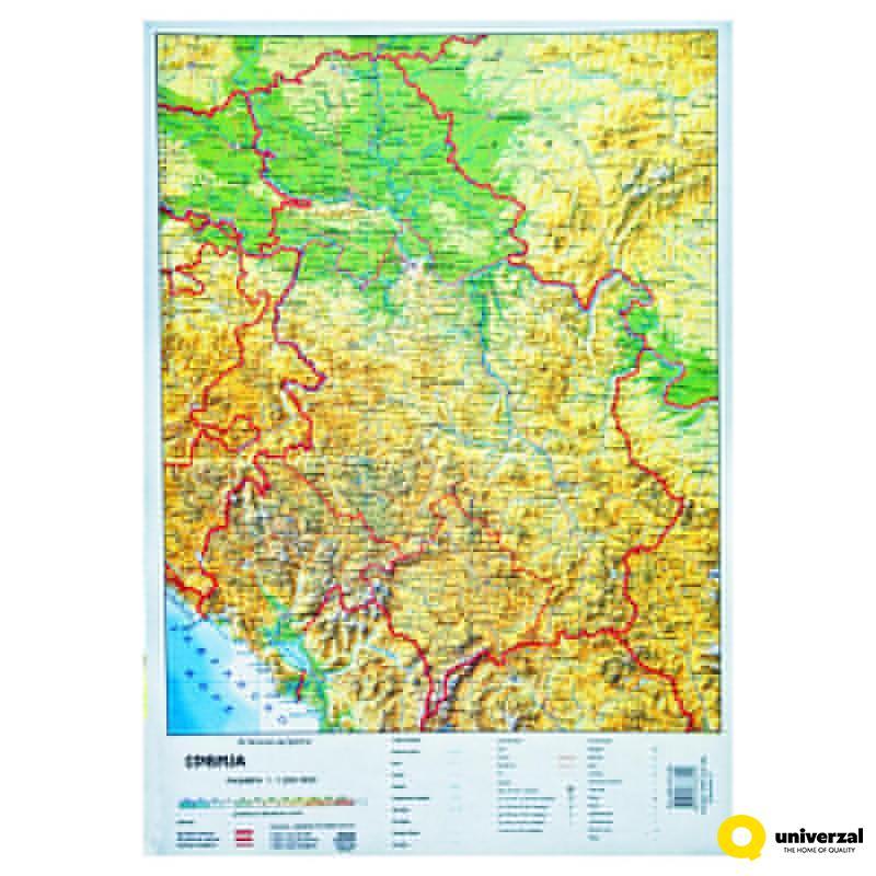 Karta Skolska Srbije U Listu B3 Cirilica 4050 Www Uni Rs
