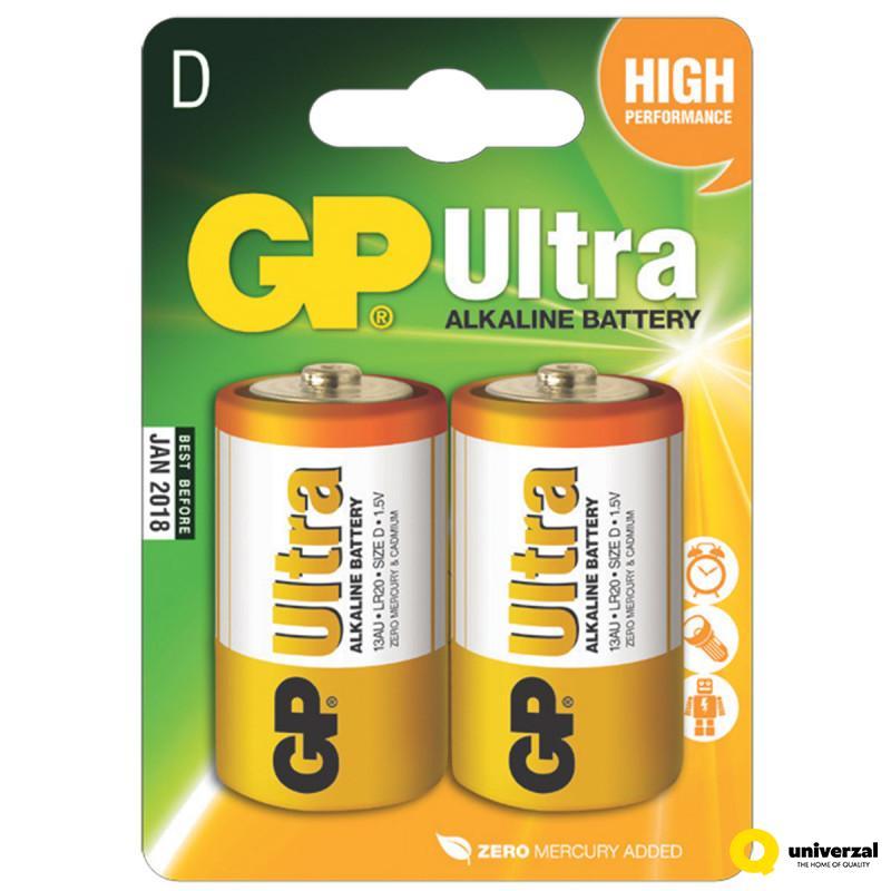 BATERIJE GP ULTRA 2/1 LR20 1.5V 13AU-U2/