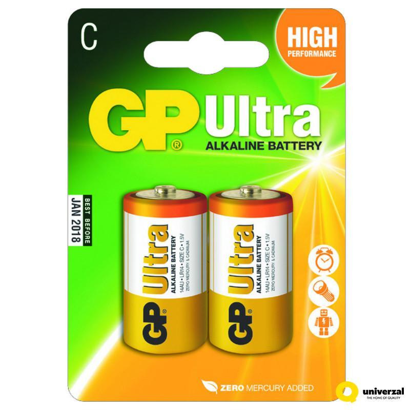 BATERIJE GP ULTRA 2/1 LR14 1.5V 14AU-U2/