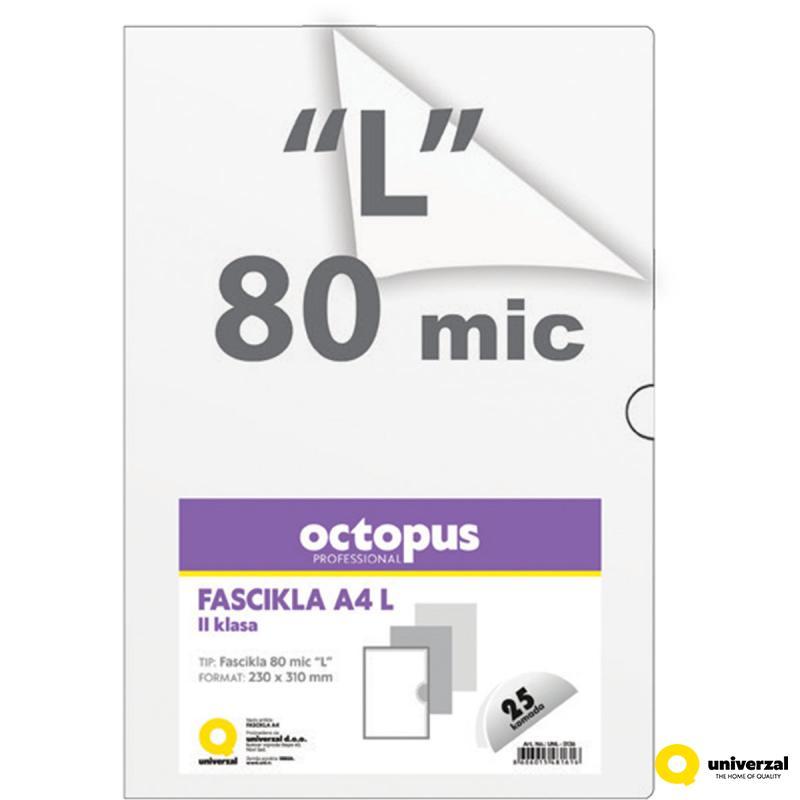 FASCIKLA A4 L 25/1 80mic II KLASA UNI LINE UNL-0136