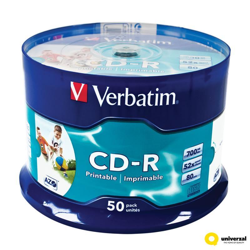 CD VERBATIM CD-R 50/1 43309 PRINTABILNI