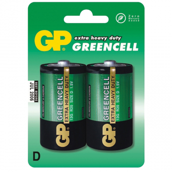 BATERIJE GP GREENCELL 2/1 R20 1.5V 13GU2