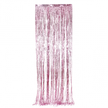 PARTY FRINGE CURTAIN 1/1 PINK UNL-1387