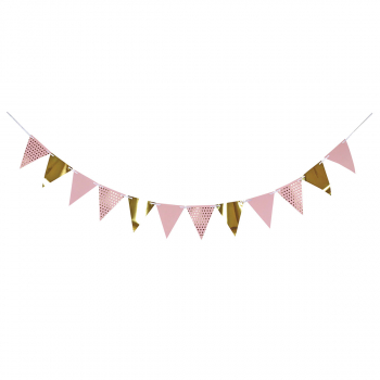 PARTY PENNANT BANNER 1/1 PINK UNL-1400