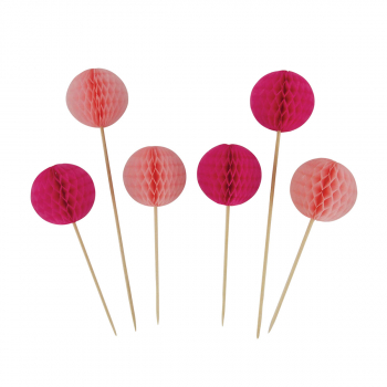 PARTY HONEYCOMB BALL PICK 6/1 PINK UNL-1421