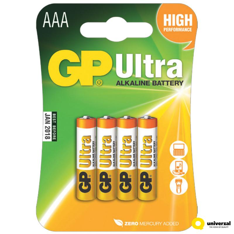 BATERIJE GP ULTRA 4/1 LR03 1.5V 24AU ALK