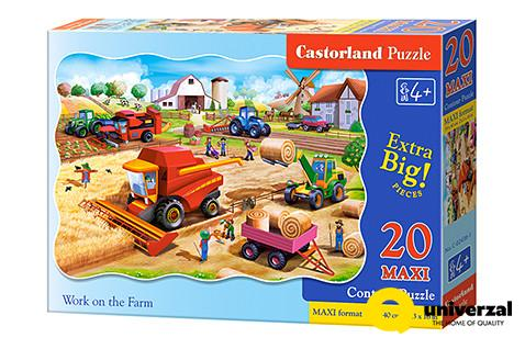 PUZZLE 20 DELOVA MAXI C-02436-1 WORK ON THE FARM CASTORLAND
